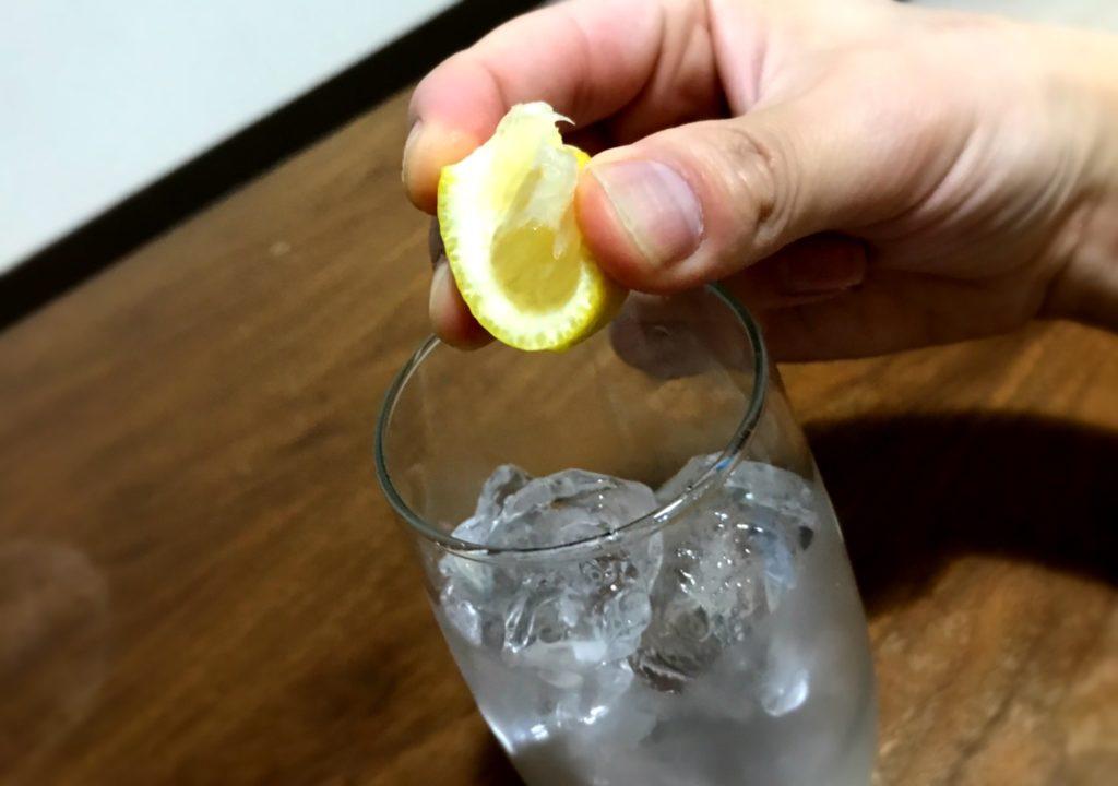 レモン絞り方